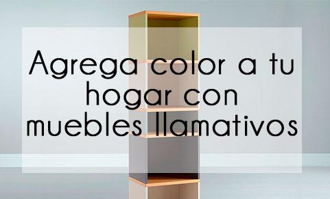 Añade color a tu hogar con muebles llamativos