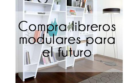Libreros modulares que se acoplan a cualquier espacio