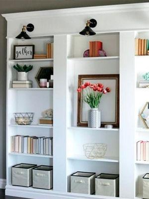 Decora tu librero con cajas