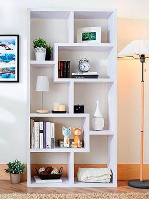 Librero modelo Dubai de madera viva