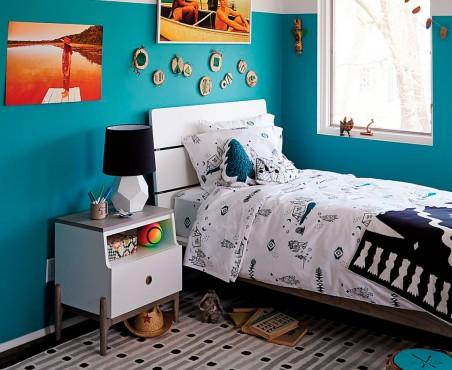Habitación cama y buró modelo Palau