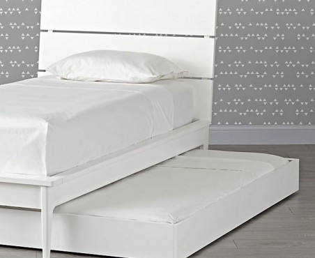Cama canguro modelo Victoria terminado blanco alto brillo