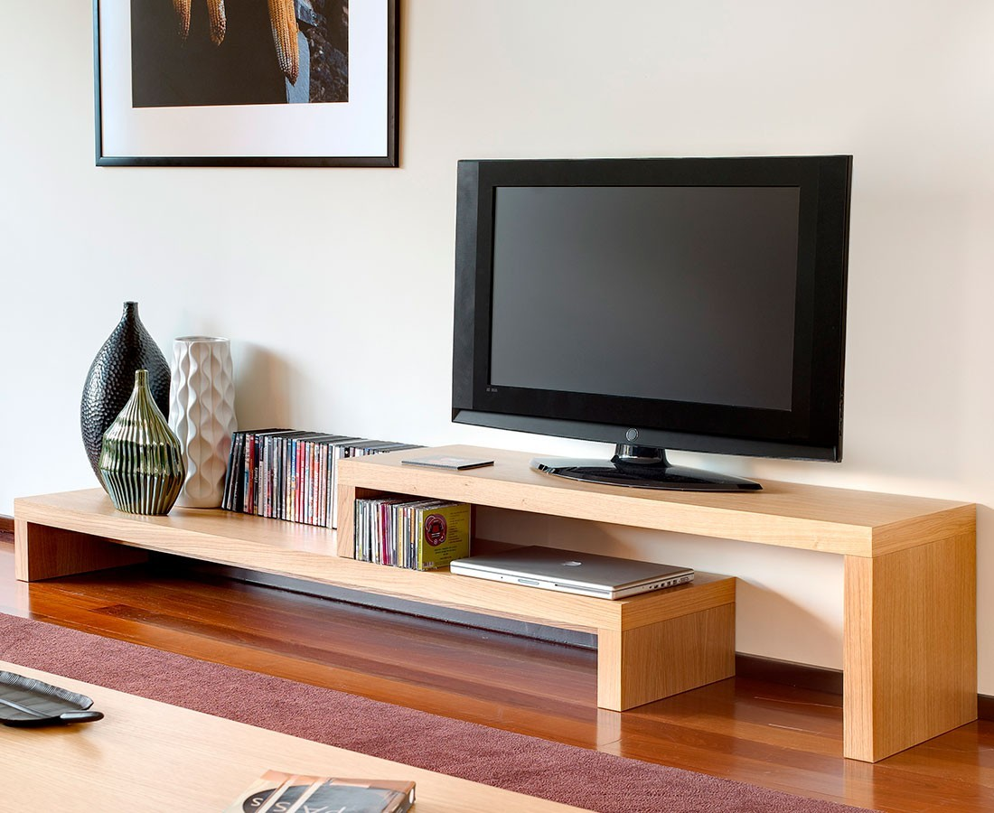 mueble tv madera barcelona madera viva