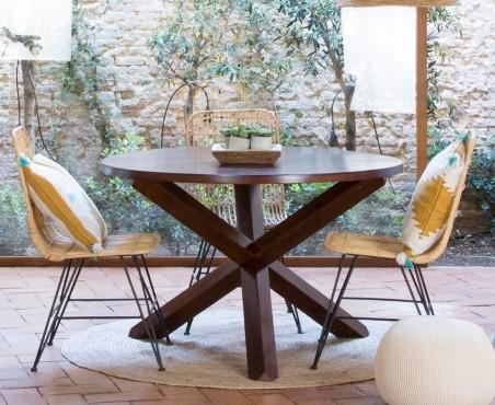 Mesa redonda madera pino modelo México