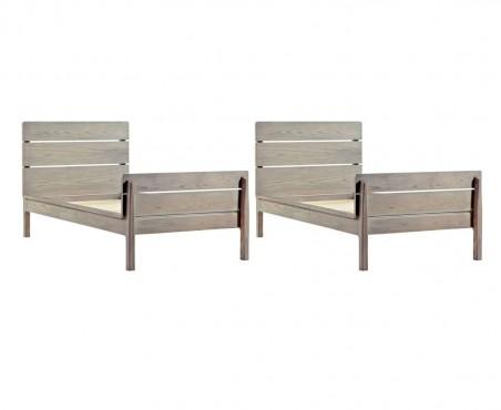 Así luce la litera modelo Ushuaia una vez se separa en dos camas individuales.