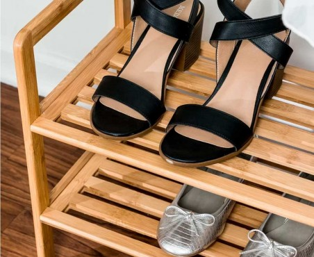 Zapatero de madera para ocho zapatos modelo Gandía