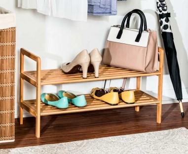 Rack para 8 zapatos de madera modelo Gandía