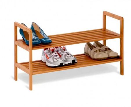 Acomoda hasta 8 pares de zapatos en este bonito rack de madera