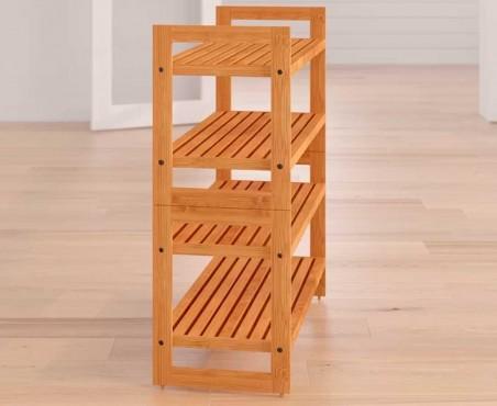 Rack para 12 pares de zapatos de madera modelo Cova