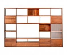 Librería fabricada con madera de pino modelo Cairo