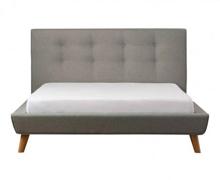 Base de cama con cabecera capitoneada modelo Habana