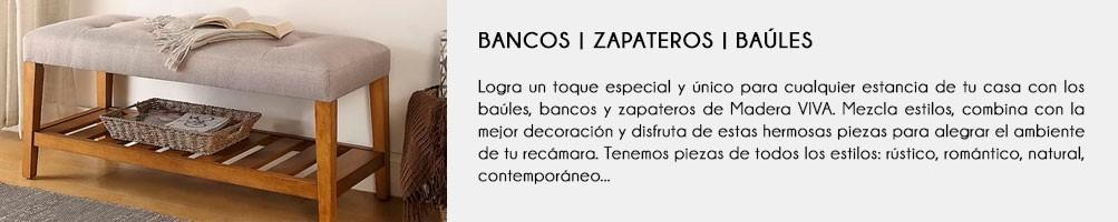 Bancos | Zapatero | Baúl | Habitación | Madera VIVA
