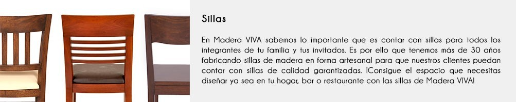 Sillas de Madera | Comedor | Restaurante | Bar | Madera VIVA