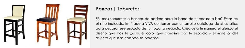 Taburetes | Bancos de madera | Silla alta | Madera VIVA